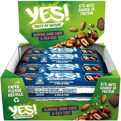 YES! Dunkle Schokolade, Meersalz & Mandel 12er Pack (12 x 35g)