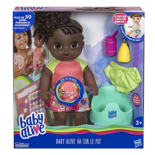 Baby Alive - Va Sur Le Pot - Poupee Cheveux Noirs - E0304