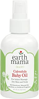 Earth Mama Calendula Baby Oil for Infant Massage 4-Fluid Ounce