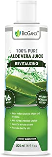 Bioganix Pure Aloe Vera Immunity Boosting Juice and Dietary Supplement, Vegan, 16.9 Ounces