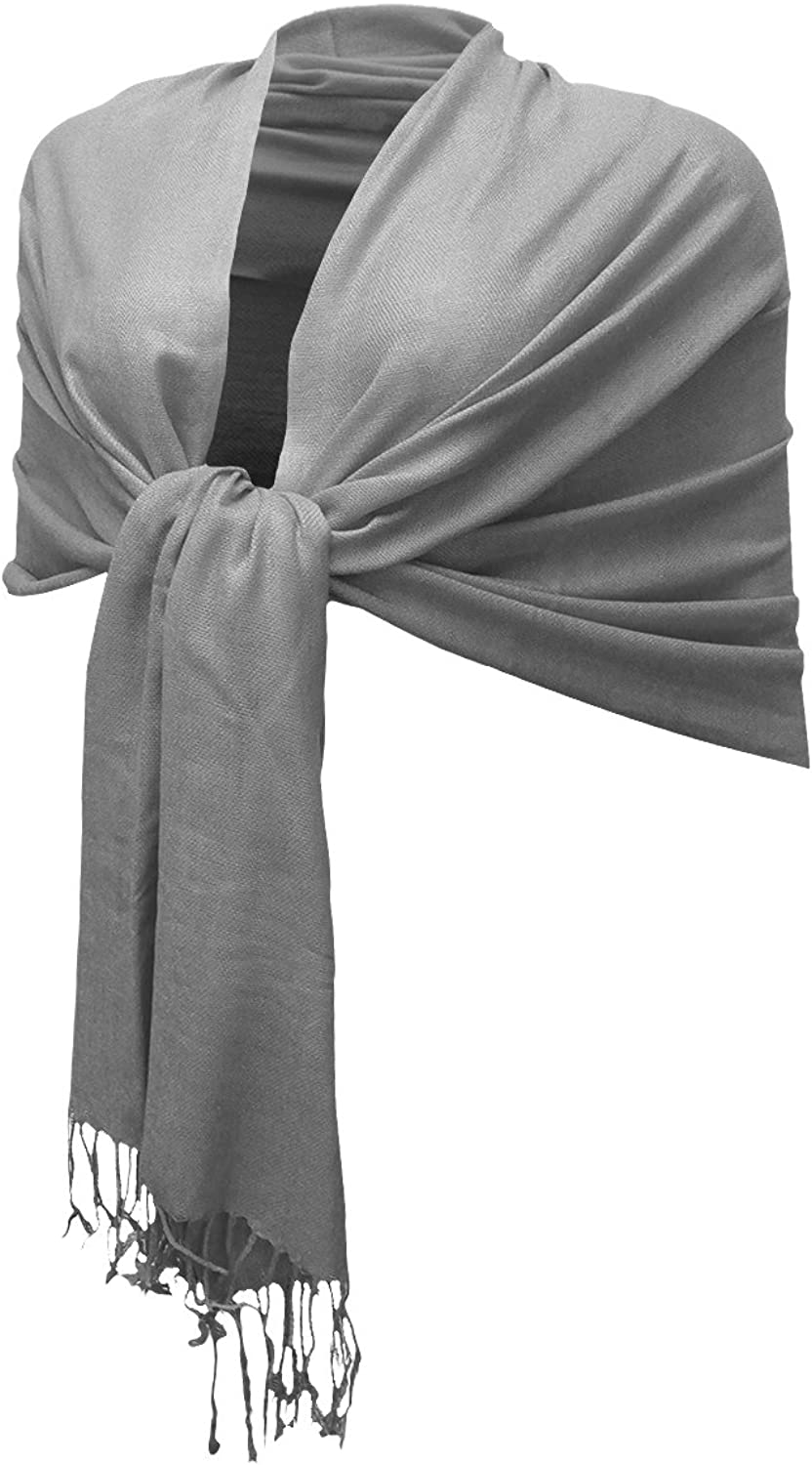 Enimay Women's Silky Persian Pashmina Scarf Large Soft Solid Shawl Wrap Stole