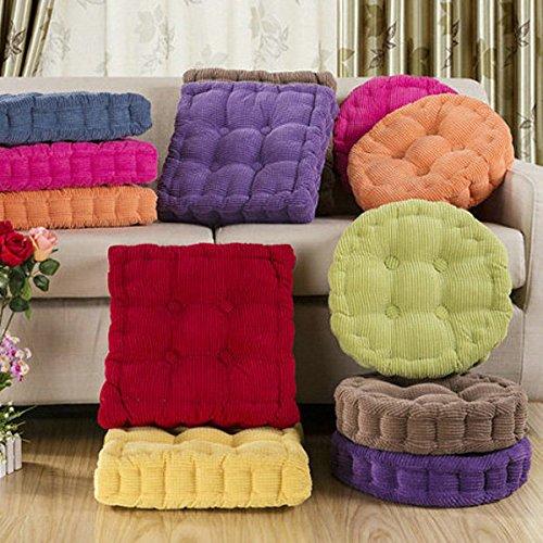 BAZAAR Soft Round épaisse Fibre Coussin d'assise Grosse Home Canapé Chaise de bureau de sol Taie d'oreiller