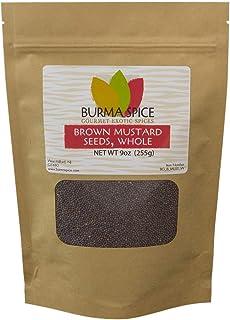 Brown Mustard Seed, Whole   Indian Mustard   Sharp Heat Flavor 9oz.