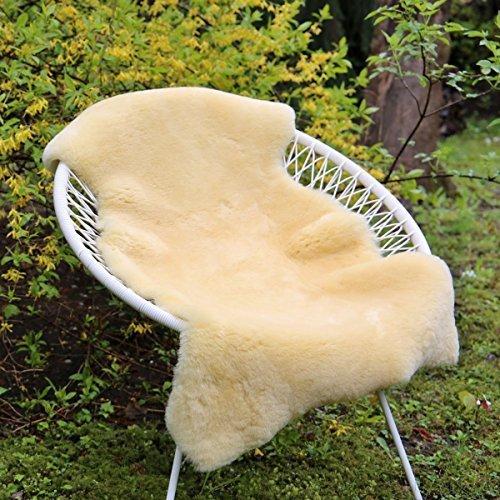 Lammfell Gelb - 2. WAHL Merino Schaffell Baby Bett Sitzunterlage waschbar Größe 100-110