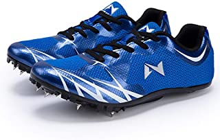 Unisex atletiekschoenen, Lichtgewicht antislip trainingsschoenen Plastic track spikes Running spikes,Blue,45EU