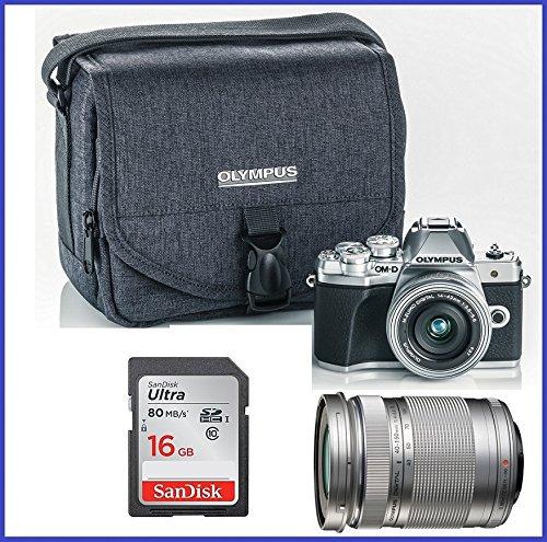 Olympus OM-D E-M10 Mark III (Mark 3) Digital Camera Bundle (with 14-42mm EZ + 40-150mm Lenses, Silver)