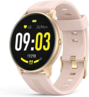 AGPTEK Smart Watch for Women,1.3'' Full Touch Fitness Tracker with Female Health Tracking,Heart Rate Monitor,Message Notif...