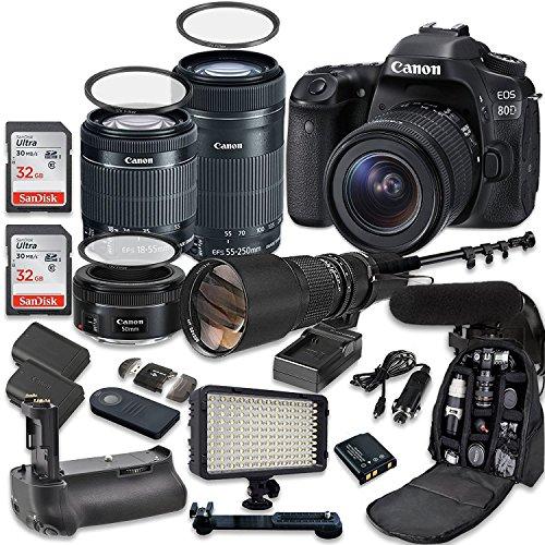 Canon EOS 80D Accessory Bundle 4