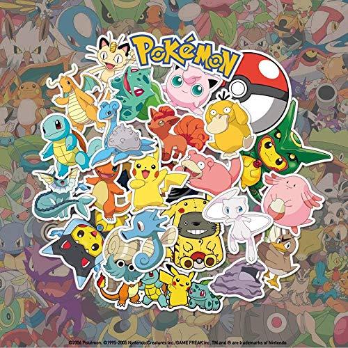 XXCKA 24 Pokemon Pokemon Maleta para portátil Maleta de Dibujos Animados Caja de Palanca Nevera Impermeable