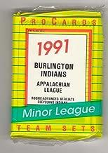 1991 ProCards Minor League Team Set - Burlington INDIANS w/Manny Ramirez