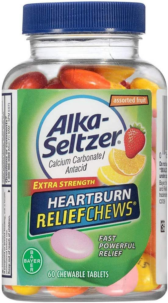 Alka-Seltzer Fruit Chews Calcium Antacid Carbonate Outlet ☆ Free Shipping Tabl Chewable excellence