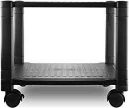 Circuit City PS2T 2 Shelf Wheeled Rolling Printer Cart Machine Stand with Cable Management - Holds Up to 75 Pounds (Black)