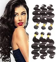 Huarisi Brazilian Hair 3 Bundles Body Wave 20 22 24 Virgin Hair Deals 300g Natural Color Bodywave Human Hair Extensions a Pack