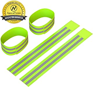Reflective Ankle Bands (4 Bands/2 Pairs) | High Visibility and Safety for..