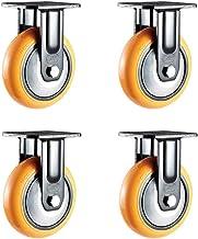 Meubelwielen, 4-delig, robuust, textiel, grote wielen, 4 inch, 5 inch, 6 inch, 8 inch, polyurethaan/oranje/115 x 110 x 191...