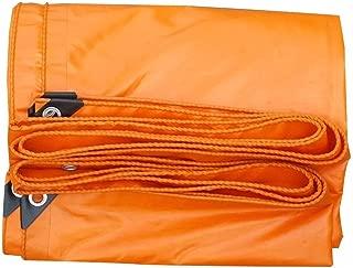 MXK Heavy Duty Tarpaulin Orange Tarp Sheet Shelter, Waterproof Ground Tent Truck Cover, Thick Camping Tarp Shelter Canopy,420 G/M² (Color : Orange, Size : 3 x 4m)