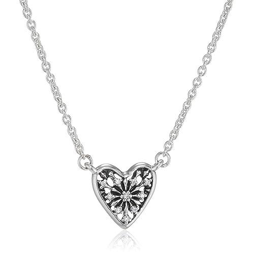 1e9ae4622 Pandora Women Silver Pendant Necklace - 396370CZ-45