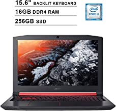 2020 Acer Nitro 5 AN515 15.6 Inch FHD Gaming Laptop (Intel Quad Core i5-8300H up to 4.0 GHz, 16GB DDR4 RAM, 256GB SSD, NVI...