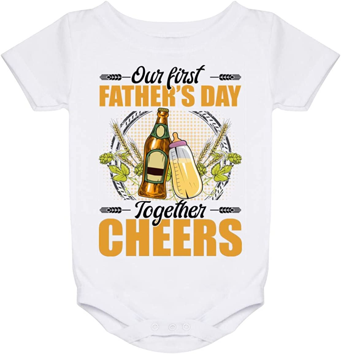Our First Topics on TV Father's Day Together Bodysu Onesie - Infant Over item handling Baby