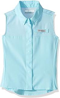Columbia Youth Girls PFG Tamiami Sleeveless Shirt, UV Sun Protection, Moisture Wicking Fabric