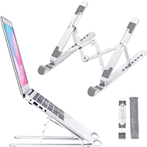 Laptop Stand, Laptop Holder Riser Computer Mount, 0.6 lbs Light Duty Aluminum Adjustable Ergonomic Foldable Portable Tablets Holder for 10