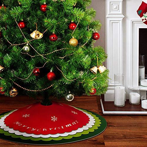 ZB ZealBoom Weihnachtsbaum Rock 122 cm Große Weihnachtsbaum Decke, 4-Schicht Rund Weihnachtsbaumabdeckung mit Lochmuster, DIY Weihnachten Dekoration Feiertagsdekoration