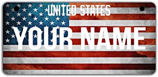 BRGiftShop Personalize Your Own Mixed USA and Scotland Flag Car Vehicle 6x12 License Plate Auto Tag