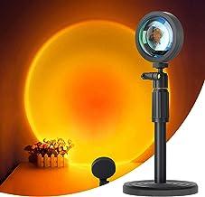 Sunset Lamp, zonsonderganglamp, USB-LED-projectorlamp, projectorverlichting, 180° rotatie romantische visuele sfeerlamp ve...