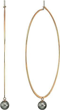 Modern Classic Pearl Hoop Earrings