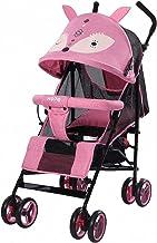 Zorro cochecito silla de paseo de Bebe plegable ultra compacto Ligera Silla de paseo para avión Silla Paseo Ligera Plegable plegado fácil con una mano desde el nacimiento hasta los 3 años,Rosado