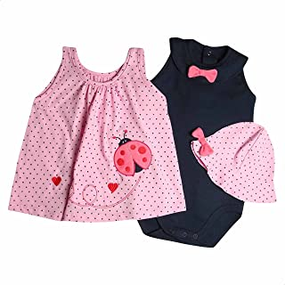 Papillon Contrast-Bow Polka-Dot Pattern Clothing Set for Girls
