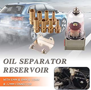 Ruien Engine Baffled Oil Separator Catch Reservoir Tank Compressed Air Filter Manual Type