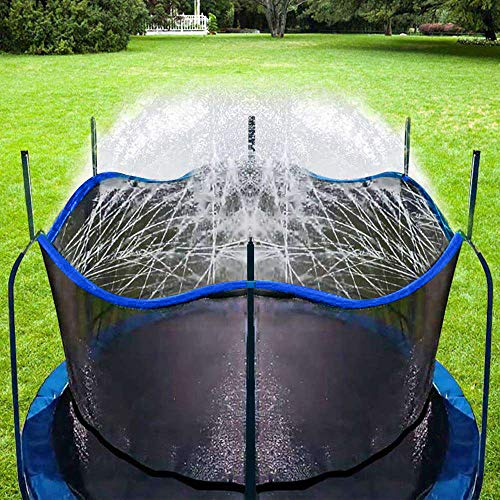 Bobor Trampoline Sprinkler for Kids, Outdoor Trampoline...