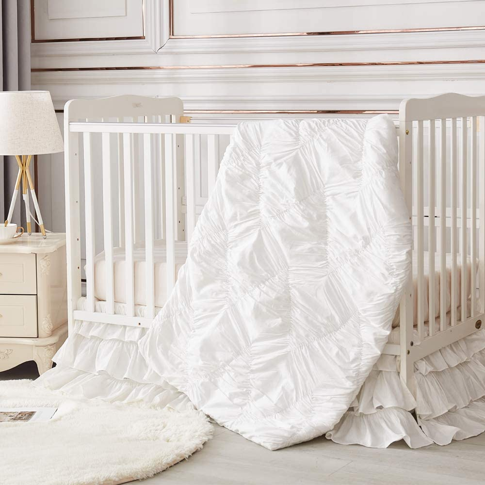 Brandream Luxury Diamond Crib National uniform free shipping Bedding Set Nu for 3 Girls Recommended Piece