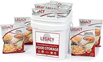 Emergency Survival Food Storage - 60 Large Servings: 16 Lbs - Freeze Dried Prepper Meals - Disaster Preparedness Supply Kit - Camping, Hiking, RV & More