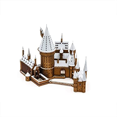 Fascinations Metal Earth ICONX Premium Series Harry Potter Hogwarts Castle in Snow 3D Metal Model Kit