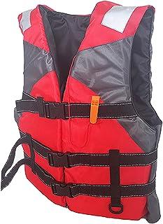 koolsoo Nylon Jacket Adult Swimming Buoyancy First Aid Kayak Fishing Vest, Life Jacket Waistcoat for Drifting Boating Wate...