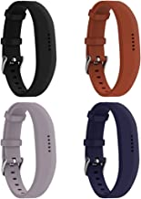 Huadea compatible Replacment for Fitbit Flex 2 ,With Watch Buckle Comfortable Soft Silicone Wristband (4 Pack)