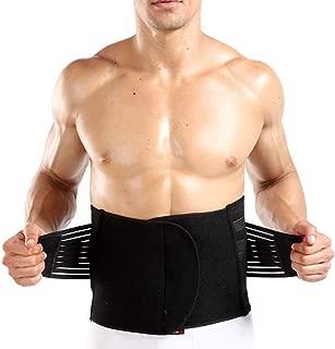 ZHW Mens Sport Waist Cincher Trainer Body Girdle Corset Gym Workout