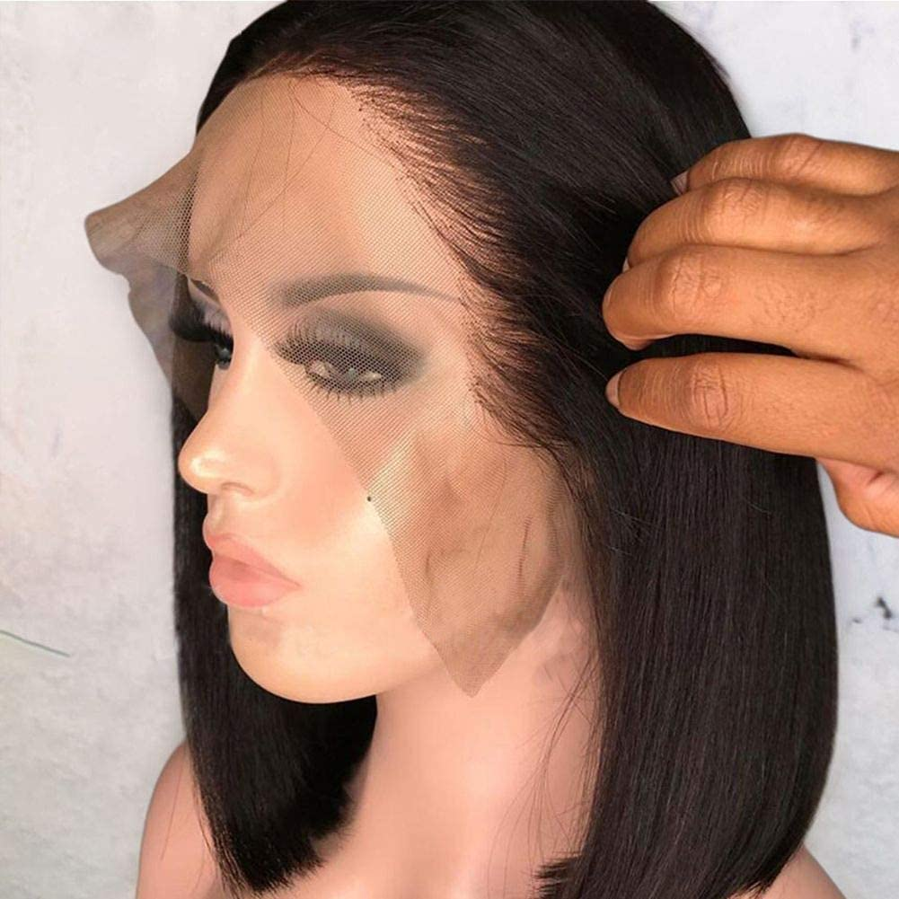 Human hair wigs for Women Small Bob Front Lace Cap マート 13X4 Wig お歳暮