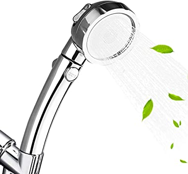 Nosame Shower,High Pressure Handheld Shower Head with ON/Off Pause Switch 3-Settings Water Saving Showerhead, Chrome Finish B