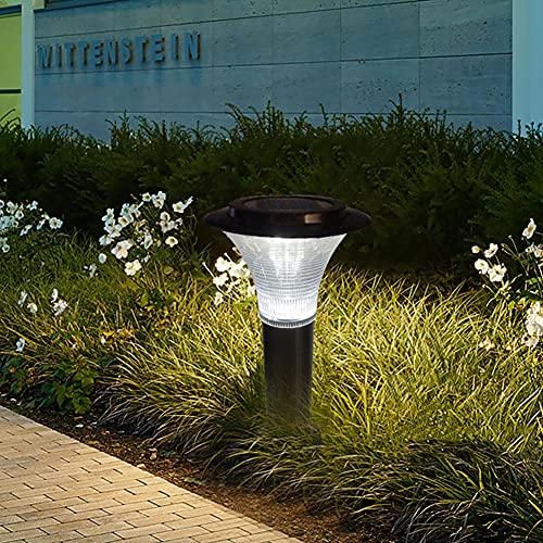 YTEVYT Luz Solar Exterior Jardin, para Caminos,de Acero Inoxidable IP44, balizas solares de jardinpara Caminos, pasarelas, Patio, Patio, Paisaje, césped, jardín
