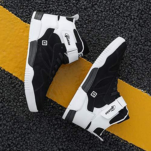 MUOU Zapatos Hombre Sneaker Deportivos Hombres Zapatos Casuales con Cordones Zapatillas Deporte Hombres de Moda (45 EU, Negro-1)