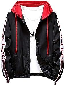 Leewa Hooded Jacket, Men's Winter Jacket Ultra-Lightweight Slim Casual Coat Outwear Jacket Jackets