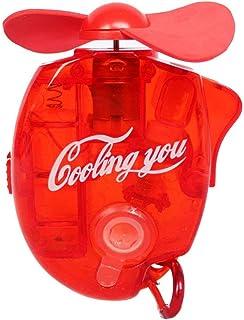 Haodou Enfriamiento de Agua Hand Held Ventiladores operados a batería Mist Spray Mini Ventiladores de Mano con Agua Spray para Oficina en el hogar Viajes al Aire Libre (Rojo)