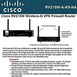 Cisco Small Business - Cisco Rv215W Wireless N Vpn Fi Rewall - Part Number RV215W-A-K9-NA