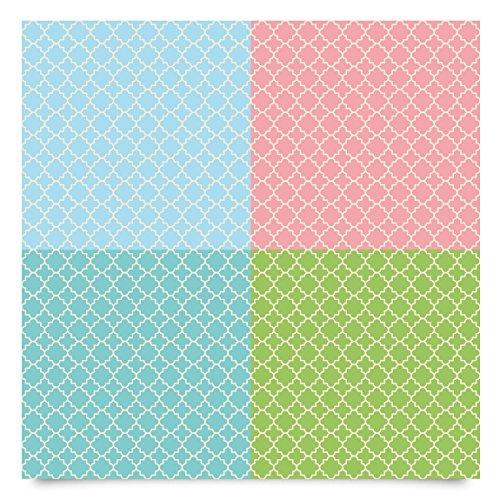 Pellicola mobili pellicola decorativa Set–in 4colori pastello motivo a mosaico per piastrelle, Moroccan, adesivo, DIY Pellicola design, adesivi per mobili, al metro