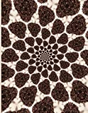 Fractal Photo Art Notebook: Coffee Beans 1: A fractal image notebook made from a photo of roasted coffee beans and filled with college ruled paper.