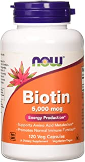 Now Foods Biotin 5 MG Vegetarian Capsules, 120 Count