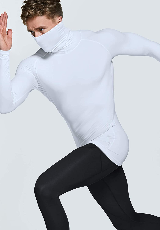 Mock Winter Sports Base Layer Top ATHLIO 1 or 3 Pack Mens Thermal Long Sleeve Compression Shirts Active Running Shirt